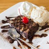 Gelado da brownie do chocolate Fotos de Stock