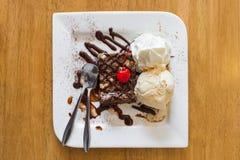 Gelado da brownie do chocolate Imagens de Stock