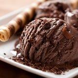 Gelado de chocolate Fotografia de Stock