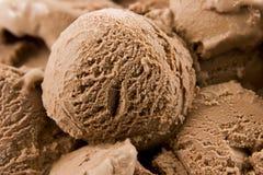 Gelado de chocolate Fotografia de Stock Royalty Free