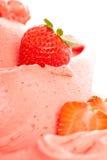 Gelado de Strawberrys Imagens de Stock