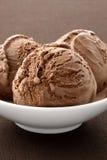 Gelado delicioso de chocolate do gourmet, fotos de stock royalty free