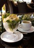GELADO E CAFÉ Imagens de Stock Royalty Free
