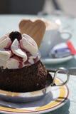 Gelado e café Foto de Stock Royalty Free