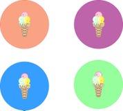 gelado eps 10 de 4 ícones ilustração do vetor