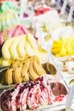 Gelado italiano do gelatto fotos de stock