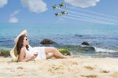 Gelado na praia Fotos de Stock Royalty Free
