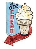 Gelado Tin Sign do vintage ilustração royalty free