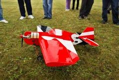 Gelande het model van vliegtuigen Stock Fotografie