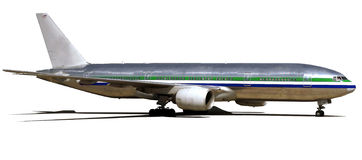 Gelandetes Flugzeug Lizenzfreies Stockbild