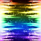 Gelassene und rechte Seite des abstrakten Neonhintergrundes Stockfotos