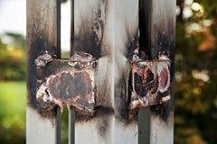 Gelaste staalpanelen, zonnecellen stock afbeelding