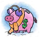 Gelata di stipendio Immagine Stock