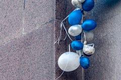 Gelaten leeglopen ballons stock afbeelding