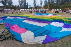 Gelaten leeglopen hete luchtballon stock afbeelding