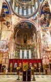 Gelati修道院内部在库塔伊西附近的 它是联合国科教文组织认可的中世纪复合体 免版税库存照片