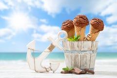 Gelati del cioccolato Fotografia Stock Libera da Diritti