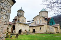 Gelati Monastery, a medieval monastic complex near Kutaisi, in the Imereti region of western Georgia. UNESCO World Heritage Site royalty free stock photography