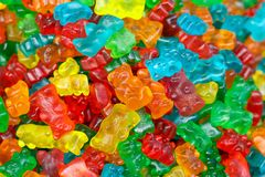 Gelatin Bears Background Stock Photo