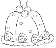 Gelatin coloring page Stock Photography