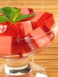 Gelatin cor-de-rosa & vermelho fotografia de stock