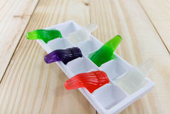 Gelatin of different colors on Royalty Free Stock Photo