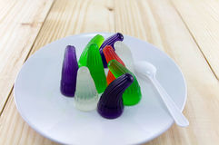 Gelatin of different colors on Royalty Free Stock Image