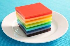 Gelatin do arco-íris imagem de stock