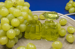 Gelatin and grapes Royalty Free Stock Images