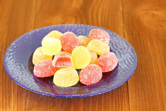 Gelatin sweets jujube Royalty Free Stock Image