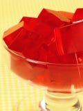 Gelatin vermelho fotografia de stock