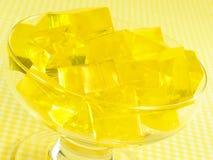 Gelatina amarilla imágenes de archivo libres de regalías