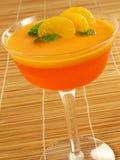 Gelatina anaranjada acodada imagen de archivo