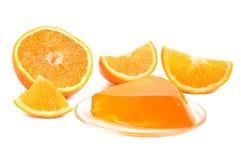 Gelatina arancio fotografie stock