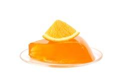 Gelatina arancione fotografie stock libere da diritti