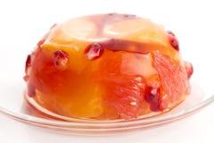 Gelatina con i frutti Fotografie Stock Libere da Diritti