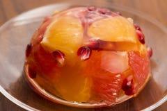 Gelatina con i frutti Fotografie Stock