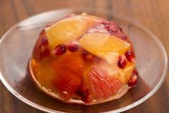 Gelatina con i frutti Fotografia Stock Libera da Diritti