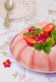Gelatina congelata della fragola Fotografie Stock Libere da Diritti