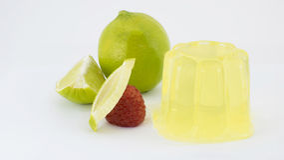 Gelatina del limone Fotografia Stock Libera da Diritti
