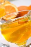 Gelatina dell'arancio di Champagne fotografia stock libera da diritti