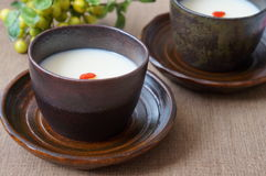 Gelatina della mandorla, dessert del cinese tradizionale Immagini Stock