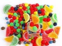 Gelatina della marmellata d'arance della caramella dei dolci Fotografia Stock Libera da Diritti
