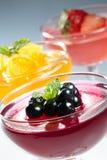 Gelatina di frutta Immagini Stock