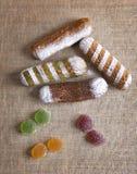 Gelatina di frutta del Eclair Fotografie Stock Libere da Diritti