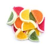 Gelatina di frutta isolata Immagini Stock Libere da Diritti