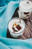 Gelatina di latte casalinga con caffè immagini stock libere da diritti