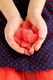 Gelatina a forma di del cuore Fotografia Stock Libera da Diritti