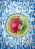 Gelatina, fragola, kiwi Fotografia Stock Libera da Diritti