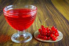 Gelatina rossa con frutta Immagine Stock Libera da Diritti